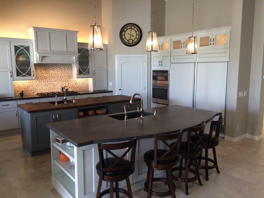 kitchens custom kitchen countertops White Quartz Countertop Installation Phoenix Concrete Countertop Installation Phoenix