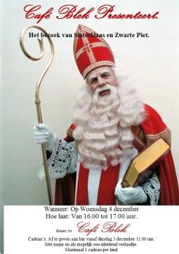 Het bezoek van Sinterklaas en Zwarte Piet aan Café Blek