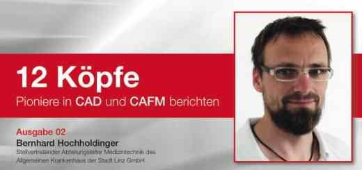 """Bernhard Hochholdinger setzt pit-cup Reihe """"12 Köpfe. Pioniere in CAD und CAFM berichten"""" fort"""
