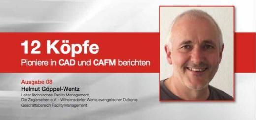 """Helmut Göppel-Wentz ist der CAFM-Profi Nummer 8, der pit-cup in ihrer Serie """"12 Köpfe. Pioniere in CAD und CAFM berichten"""" portraitieren"""