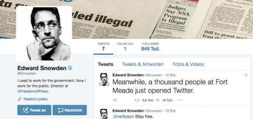 Edward Snowden hat jetzt einen Account auf Twitter - und folgt nur der NSA