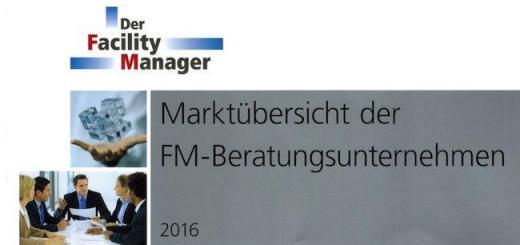 Die Marktübersicht der FM-Beratungsunternehmen 2016 ist jetzt erschienen