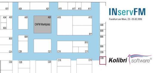 Kolibri Software präsentiert sein neues Unterkunftsmanagement auf der INservFM 2016 in Halle 11 auf Stand C 08