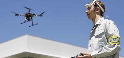 Selbst Livebilder von Drohnenkameras kann die Brother Airscouter WD-200B ihrem Träger zeigen