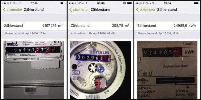 Gas, Wasser, Strom - die App Pixometer von Pixolus kann verschiedene Zählertypen ablesen