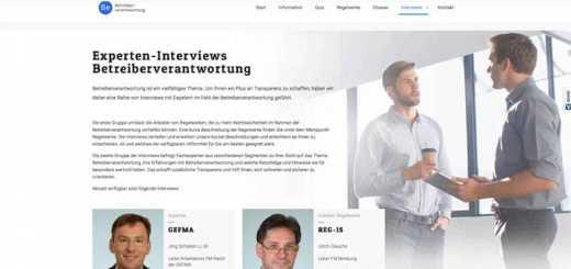 Experten-Interviews rund um das Thema Betreiberverantwortung ergänzen jetzt das Angebot von btvw.de
