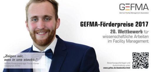 Startschuss: Zum 20. Mal lädt die GEFMA junge Akademiker ein, sich mit ihrer Anschlussarbeit mit FM-Bezug am GEFMA-Förderpreis zu beteiligen