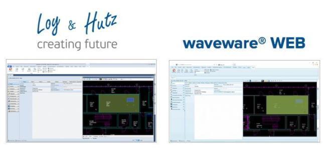 Doppelgänger: Der reguläre Client von wave Facilities ist die Vorlage für den neuen Loy & Hutz  Webclient waveware WEB