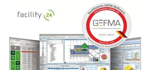 facility (24) ist als erste reine Cloud-Lösung für CAFM in allen 14 Katalogen der novellierten GEFMA 444 zertifiziert