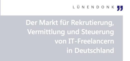 """Lünendonk-Marktsegmentstudie 2016 """"Der Markt für Rekrutierung, Vermittlung und Steuerung von IT-Freelancern in Deutschland"""" ist ab sofort verfügbar."""
