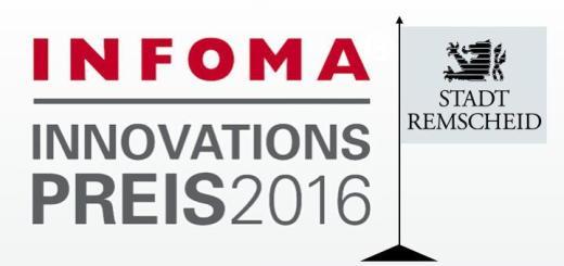 Der Infoma Innovationspreis 2016 geht an die Stadt Remscheid für ein Projekt zur Betreiberverantwortung