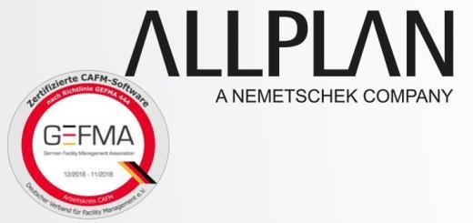 Allplan allfa ist zum vierten Mal in Folge nach GEFMA 444 zertifiziert – in 11 von 14 Katalogen