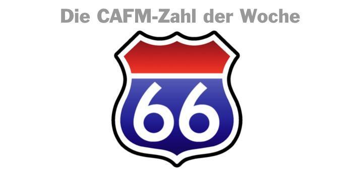 Die CAFM-Zahl der Woche ist die 66, für die aktuell 66 Hektar Flächenverbrauch pro Tag.