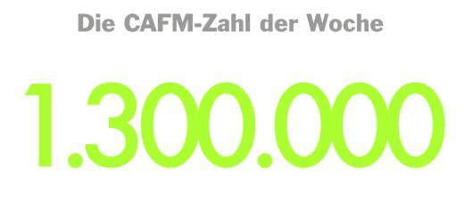 Die CAFM-Zahl der Woche ist die 1.300.000, da der Bund den ersten kommunalen Energiespeicher mit 1,3 Millionen Euro gefördert hat