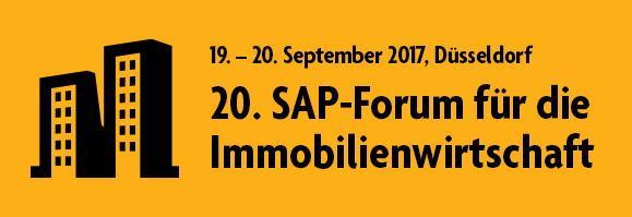 Das 20. SAP-Forum für die Immobilienwirtschaft findet am 19. und 20. September in Düsseldorf statt