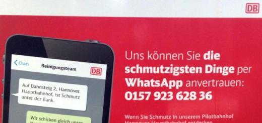 Die Bahn testet derzeit auf dem Hannover Hauptbahnhof WhatsApp als Melde-App für Reinigungsbedarf