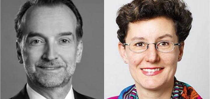 Neu im Kongress-Beirat der INservFM 2018: Frank Ströhlein von der Dr. Jörg Peter Naumann Gesellschaft für Unternehmensberatung  und Karin Schaad von ISS Facility Services Schweiz