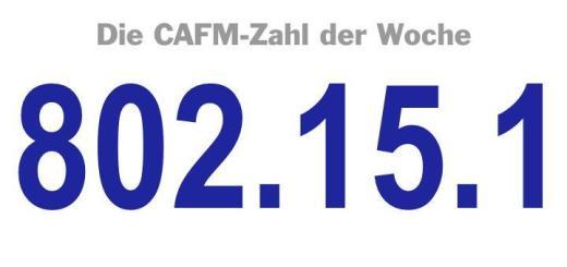 Die CAFM-Zahl der Woche ist die 802.15.1, die Norm für den Kurzstrecken-Funk Bluetooth