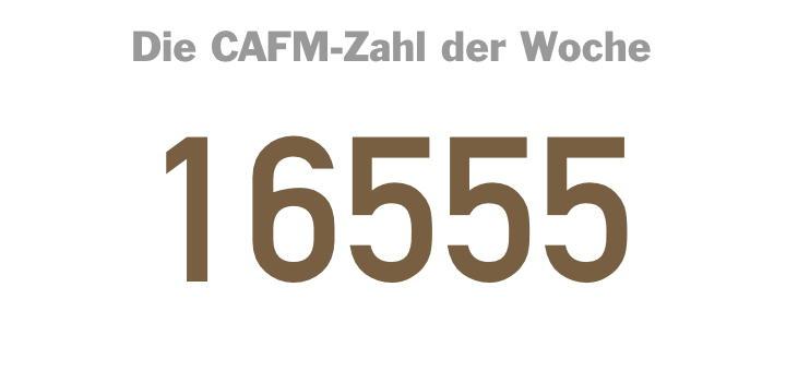 Die CAFM-Zahl der Woche ist die 16555 – für die Büromöbelstellflächen-DIN