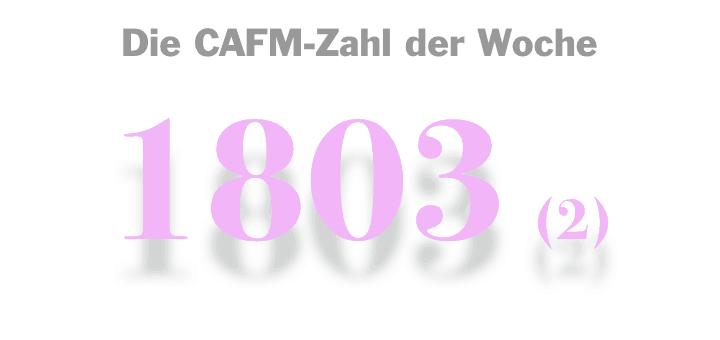 Die CAFM-Zahl der Woche ist die 1803 – zum zweiten Mal, weil sich Microsoft scheinbar langsam zum Erfolg durchwurstelt