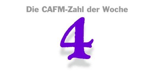 Die CAFM-Zahl der Woche ist die 4 - wegen der Beschwerde von Max Schrems gegen vier Unternehmen, die gegen die DSGVO verklagt haben.