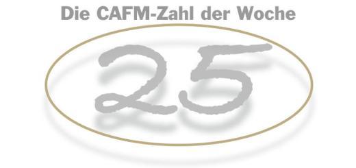 Die CAFM-Zahl der Woche ist die 25 - für die Dienstjahre, die Kerstin Galenza schon im diesen des und der Facility Management verbracht hat - vielen Dank!