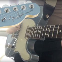 fender-american-telecaster-limited-edition-matching-headstock-improv-jam-w-propellerhead-figure