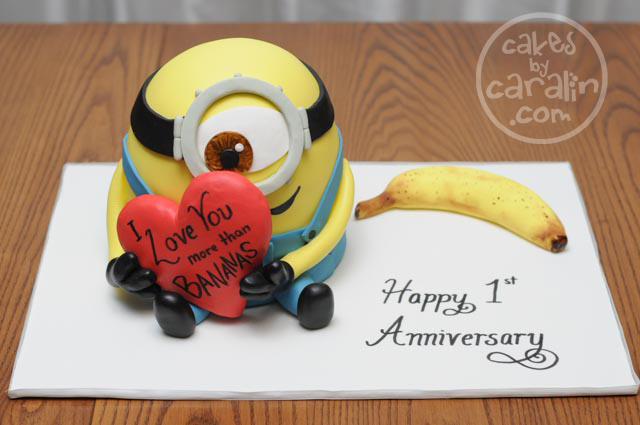 Minion in Love Cake