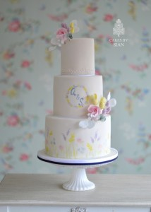 Meadow flowers cake