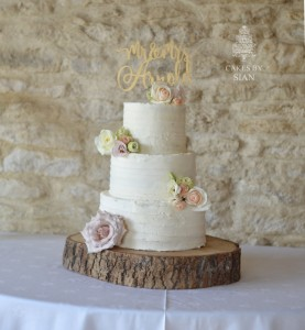 Rustic Buttercream three tier