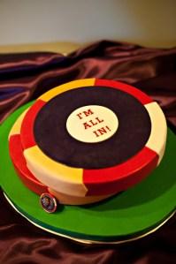 Poker Chips Groom's Cake Birthday Cake Portland Oregon