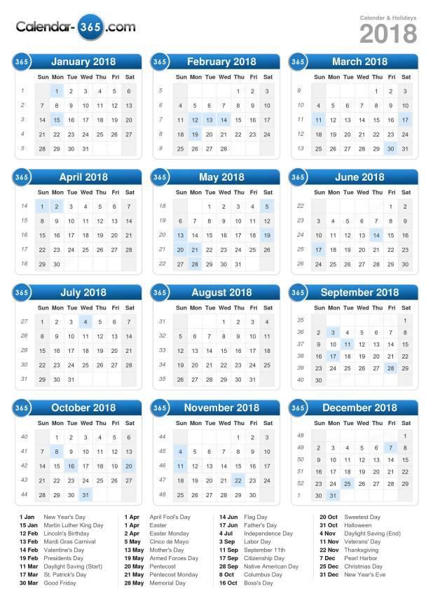 2018 Calendar Of India | Printable Editable Blank Calendar 2018