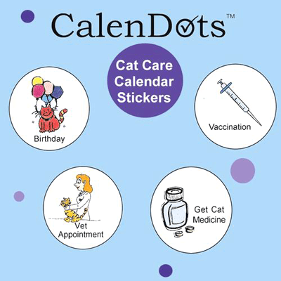 Stickers with reminders for cat owners