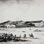Mission San Miguel Arcangel by Edwin Vischer, 1864. From the Autry Collection.