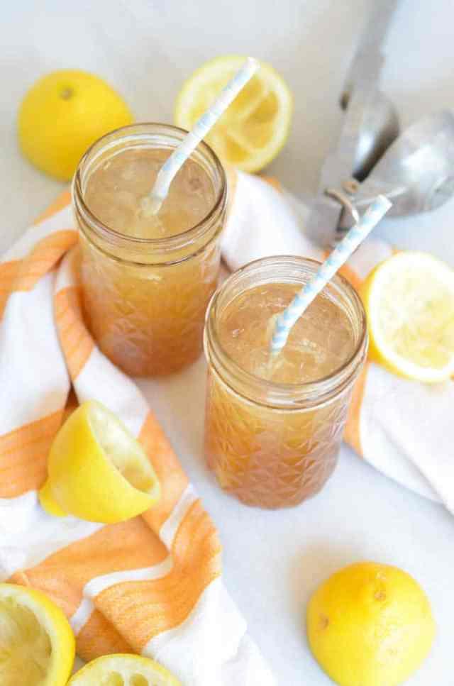 Spiked Maple Rosemary Lemonade   CaliGirlCooking.com