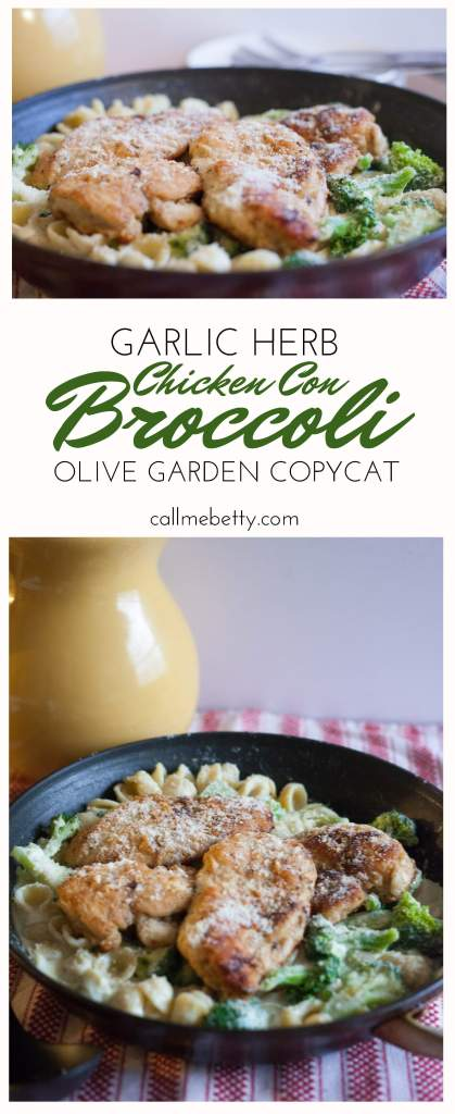 Garlic herb chicken con broccoli olive garden copycat call me betty for Call the olive garden