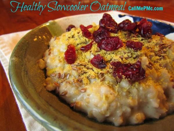 Healthy Slowcooker Oatmeal