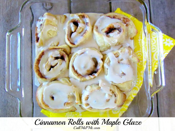 Cinnamon-rolls-with-maple-glaze #cinnamonrolls #breakfast #brunch #callmepmc