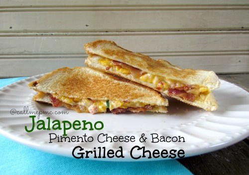 Jalapeno pimento cheese & bacon grilled cheese