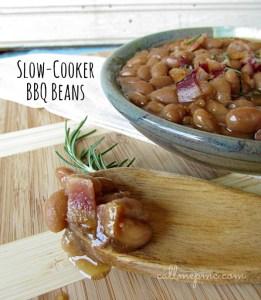 Slow-Cooker BBQ Beans www.callmepmc.com #callmepmc