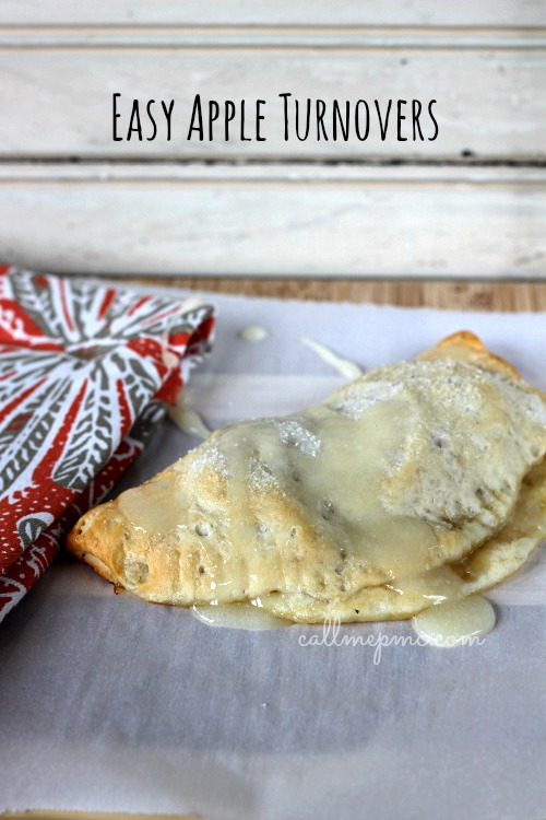 Easy Apple Turnovers - simple & easy to make handpies via #callmepmc