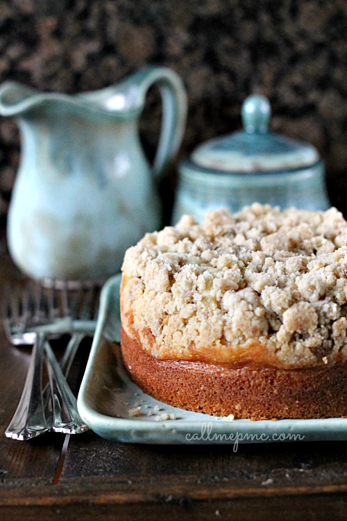 Amaretto Cream Cheese Coffee Cake #callmepmc creamy center, crunchy topping and a slight hint of amaretto, this cake is a must have!
