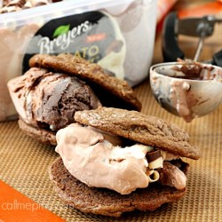 Double Chocolate Breyers Gelato Sandwich Cookies