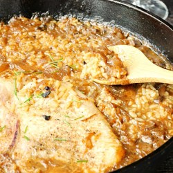 20 Minute Pork Chop Rice One Pot Recipe