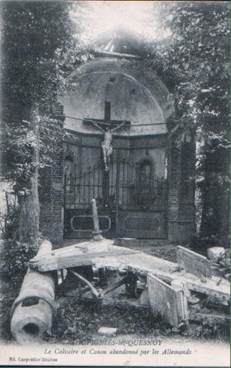Calvaire pendant la première Guerre Mondiale
