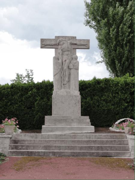 Calvaire sculpté sur la D 951
