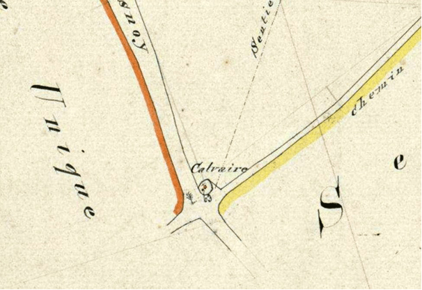 Cadastre 1827 Section n ° 63 P 31/787 Intersection des chemins Le Quesnoy et Poix du Nord
