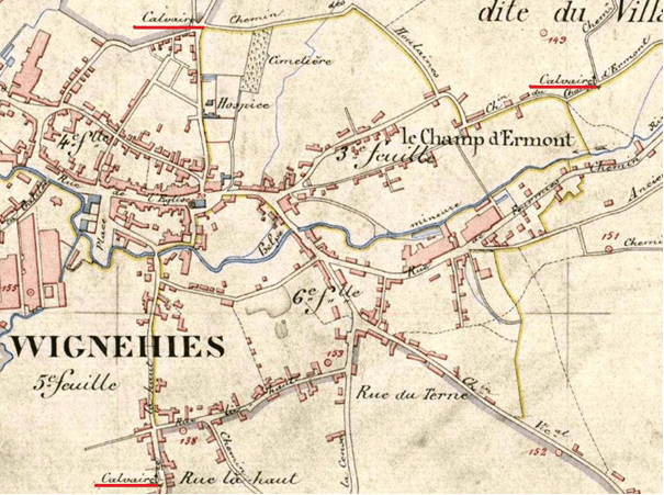 Partie du cadastre de 1885