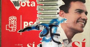 A poster showing Spain s Socialist Party  PSOE  leader Pedro Sanchez is seen in Madrid  Spain  September 29  2016  REUTERS Susana Vera