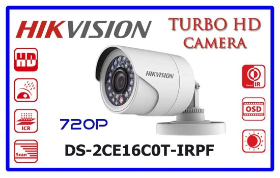 DS-2CE16C0T-IRPFIRPF - Hikvision Turbo HD Camera